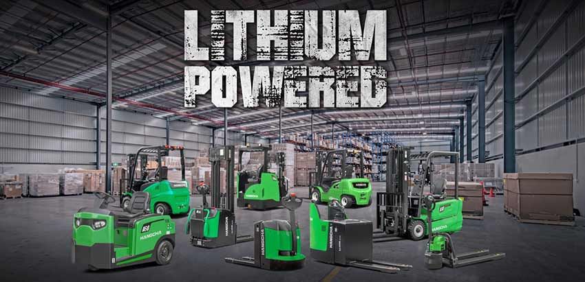 Forklifts & Material Handling Battery Li-ion? Lion!